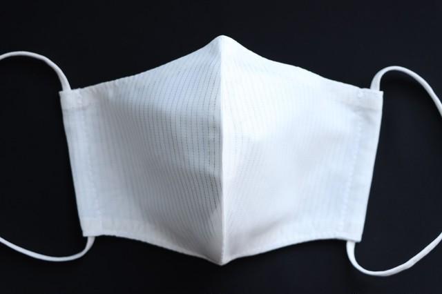 子供用タテ絽清涼マスク白