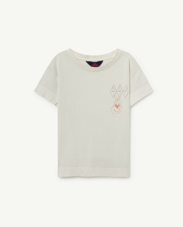 The Animals Observatory   ROOSTER KIDS T-SHIRT wh