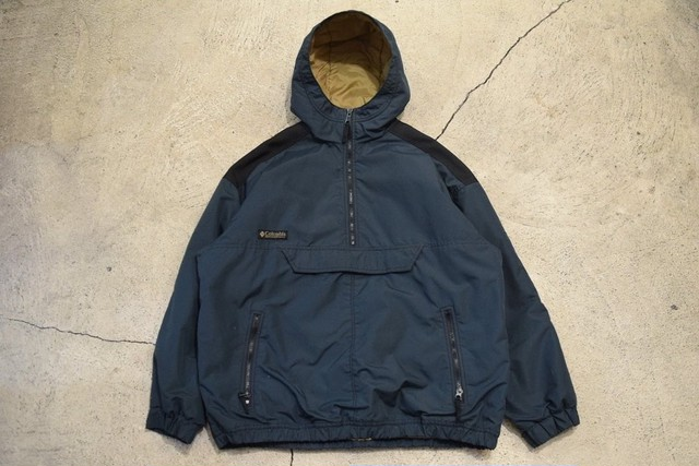 USED 90s Columbia Pullover Nylon Parka -Youth XL 0906