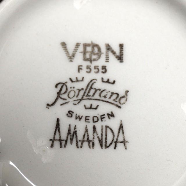 Rorstrand ロールストランド Amanda アマンダ カップ&ソーサー 北欧ヴィンテージ