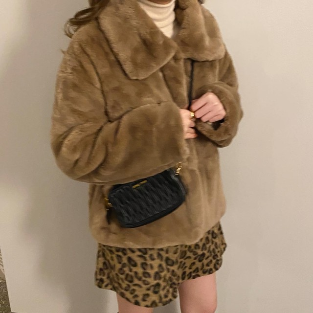 DAYNYC mink fur coat