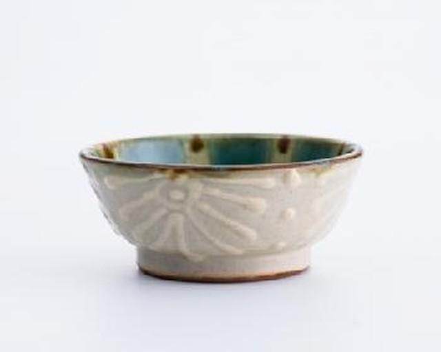 4寸鉢 花大 ノモ陶器