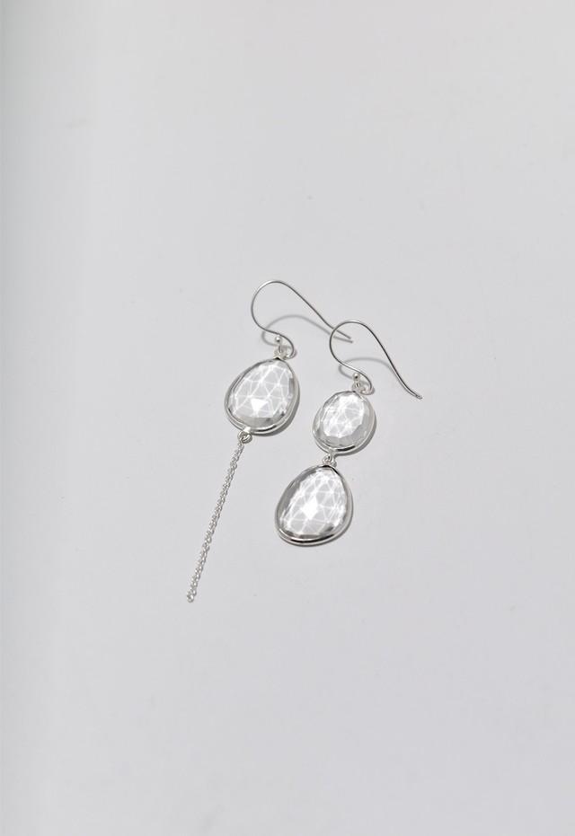 water drop pierce Silver