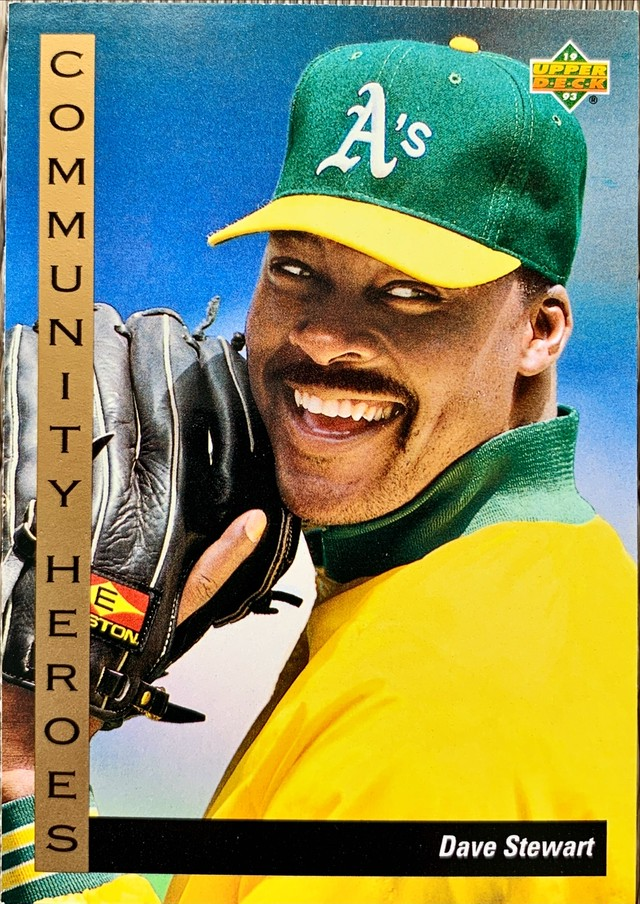MLBカード 93UPPERDECK Dave Stewart #39 ATHLETICS COMMUNITY HEROES