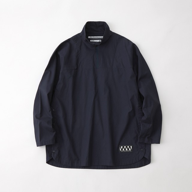 TWILLED PILLOVER SHIRT - NAVY