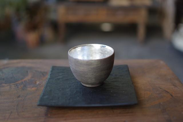 茶杯 黒×銀彩 谷井直人