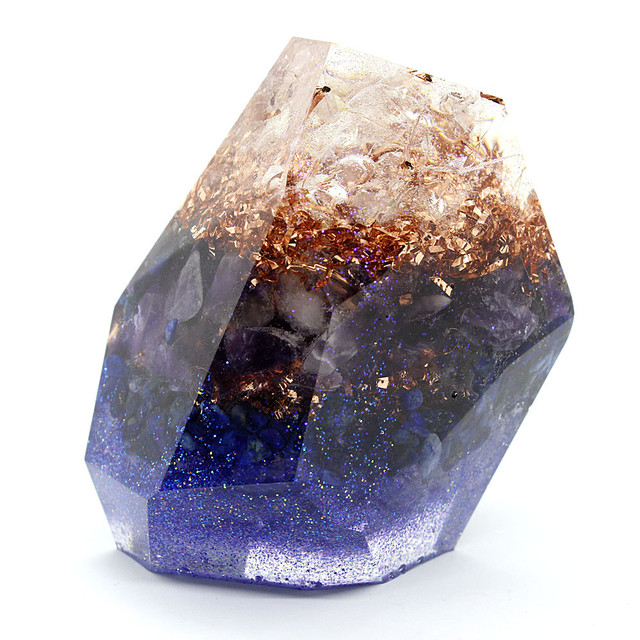 鉱石型オルゴナイト ラピスラズリ&アメジスト