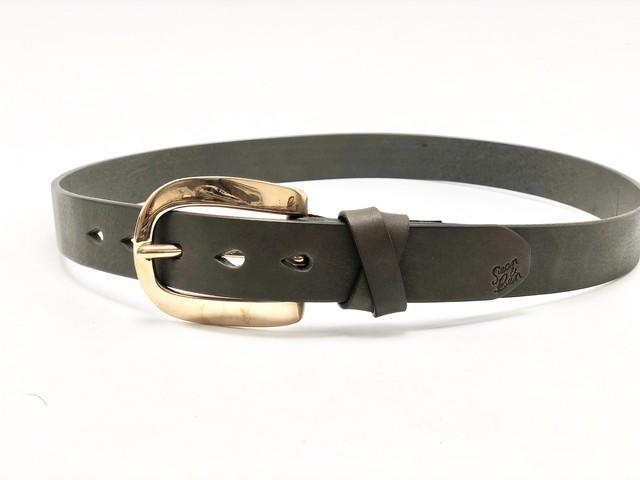 Sean&Ben Copper Buckle Belt - Charcoal Gray