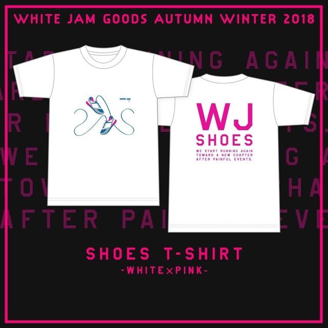 T-Shirt シューズ- White × Pink