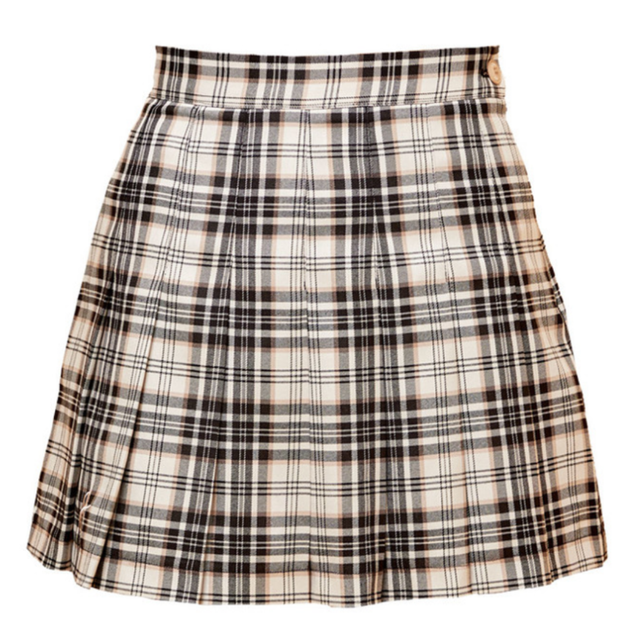 Check Skirt(Black)