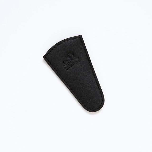 【annas Original】ノワールレザー 刺繍はさみケース ブラック