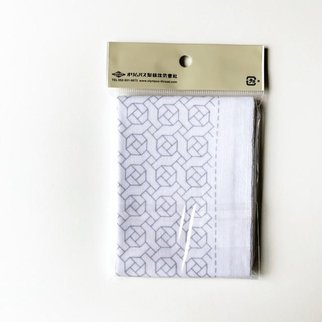 オリムパス 一目刺し花ふきん:H-1066 ローズガーデン(白)