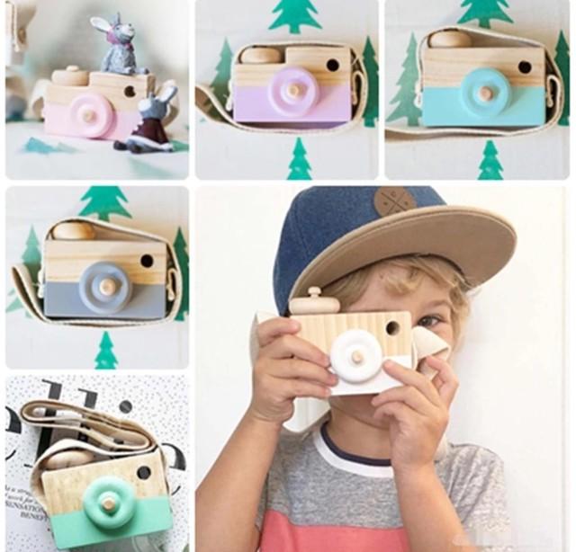 商品番号502 木のおもちゃ カメラデザインA