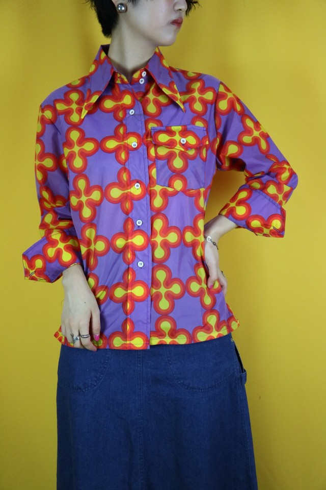 psychedelic pattern shirt【0269】