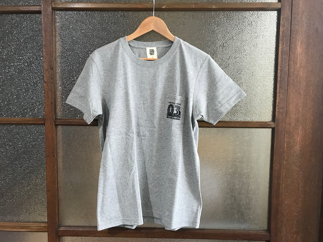 "万屋MARU ""03"" SUPER HEAVY WEIGHT TEE (HEATHER GREY/BLACK)"