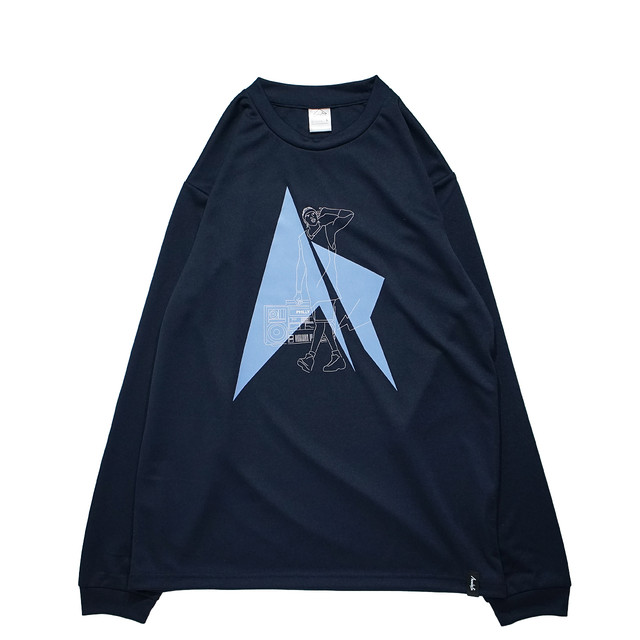 HipHop Philly L/S PL <Navy×White×L.Blue> - メイン画像
