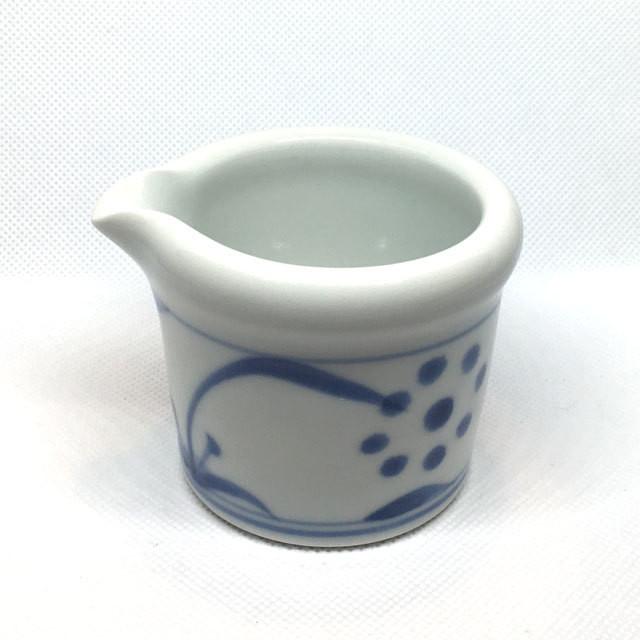 【砥部焼/梅山窯】玉縁クリーマー(赤太陽)
