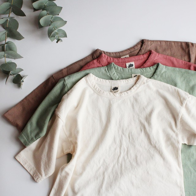 eight sleeve T mint/pink/brown/ivory  ※メール便可