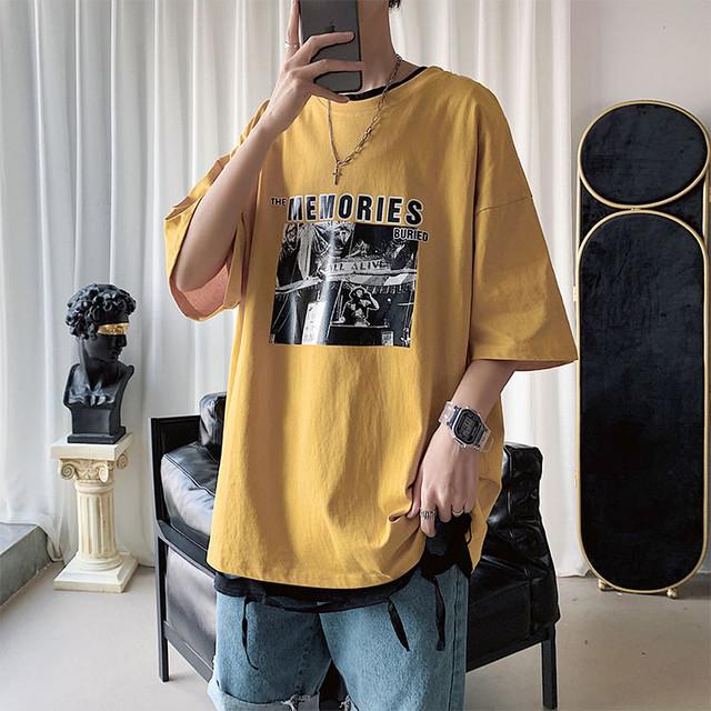 ビッグシルエット・フロントロゴ半袖Tシャツ