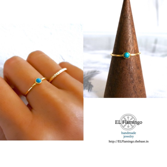 Turquoise Ring /14KGF