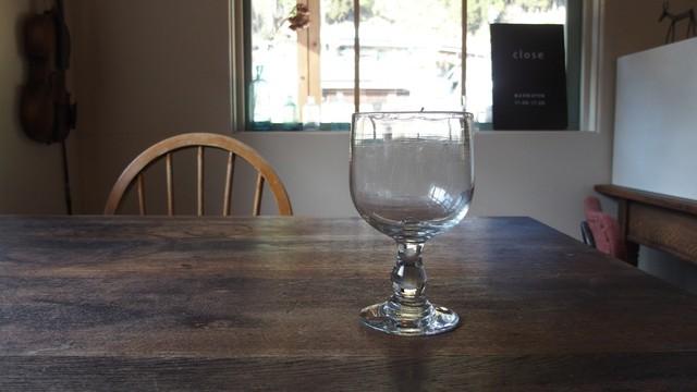 19世紀後期 吹きガラス ワイングラス