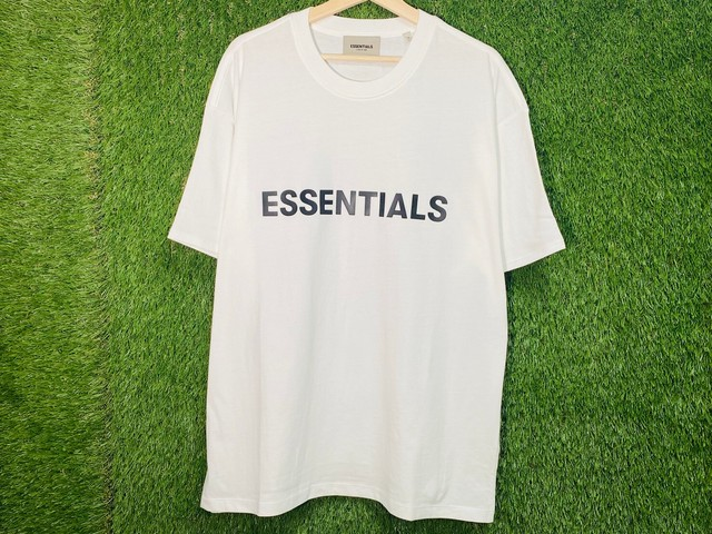 ESSENTIALS 20SS RUBBER LOGO PATCH TEE WHITE