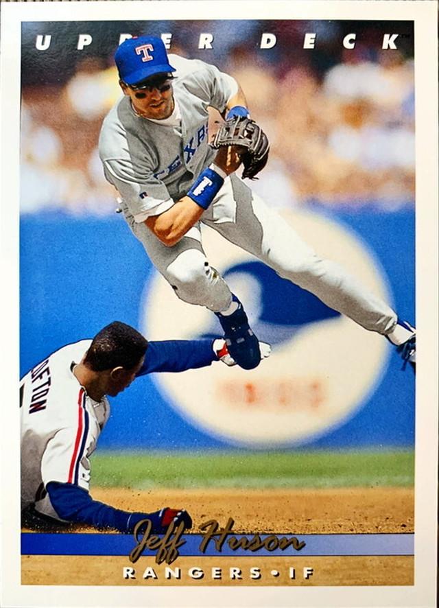 MLBカード 93UPPERDECK Jeff Huson #289 RANGERS