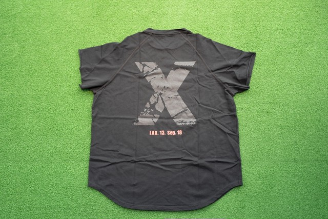 "Cutoff Raglan ""X""T-Shirts (BK/BK)"