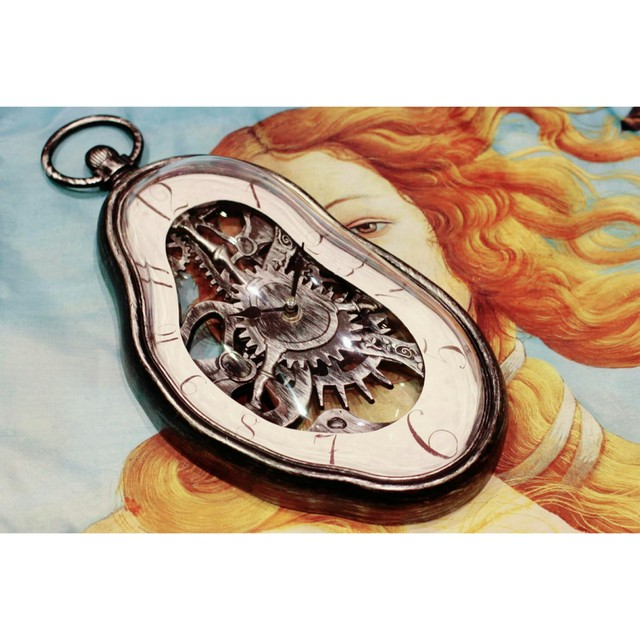 ダリ掛時計【シュルレアリスム時計】記憶の固執 Silver 浜松雑貨屋 C0pernicus