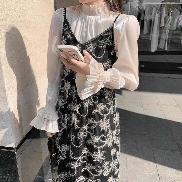 w frill arm blouse