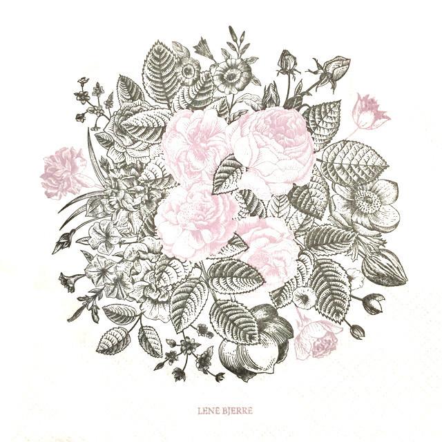 北欧【LENE BJERRE】バラ売り1枚 ランチサイズ ペーパーナプキン CAMIA パープル