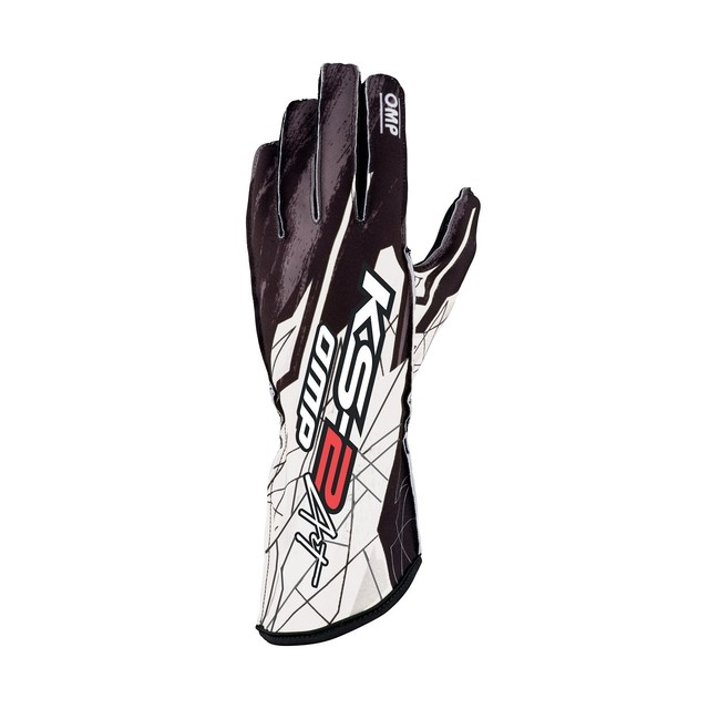 KK02740  KS-1R Gloves (Black/White/Silver)