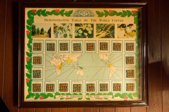 世界の珈琲豆地図