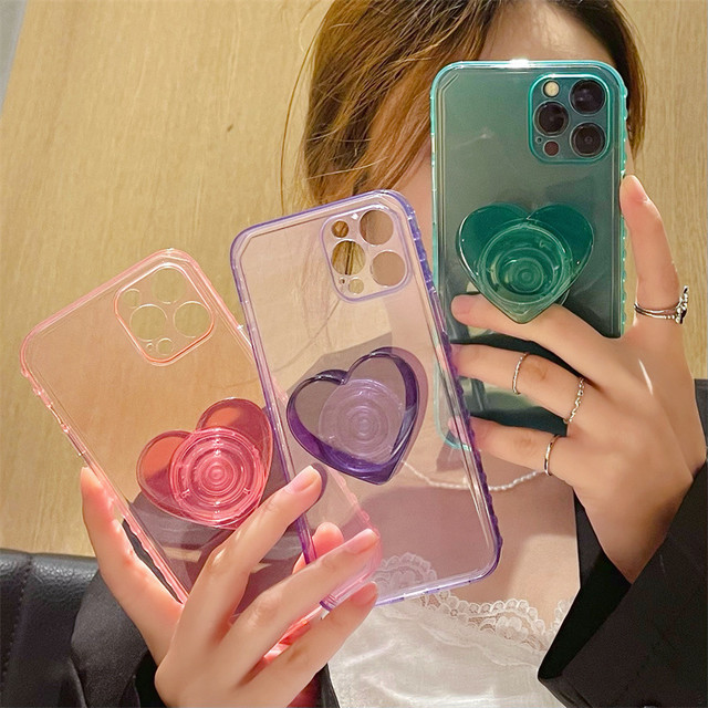 Heart grip one color iphone case