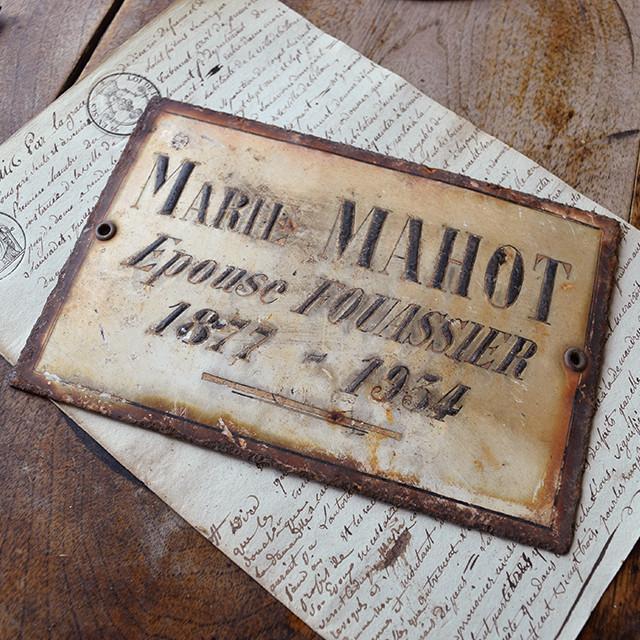 ホーロープレート MARIE MAHOT