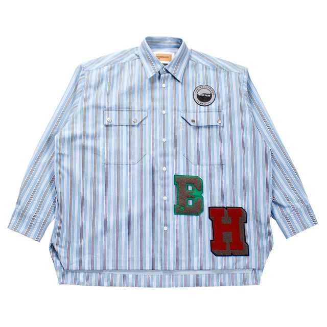 MINDSEEKER Overfit Stripe Denim Shirt