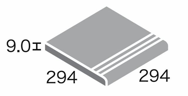 レジェロ 300角階段 (3本線凹)/SWANTILE スワンタイル