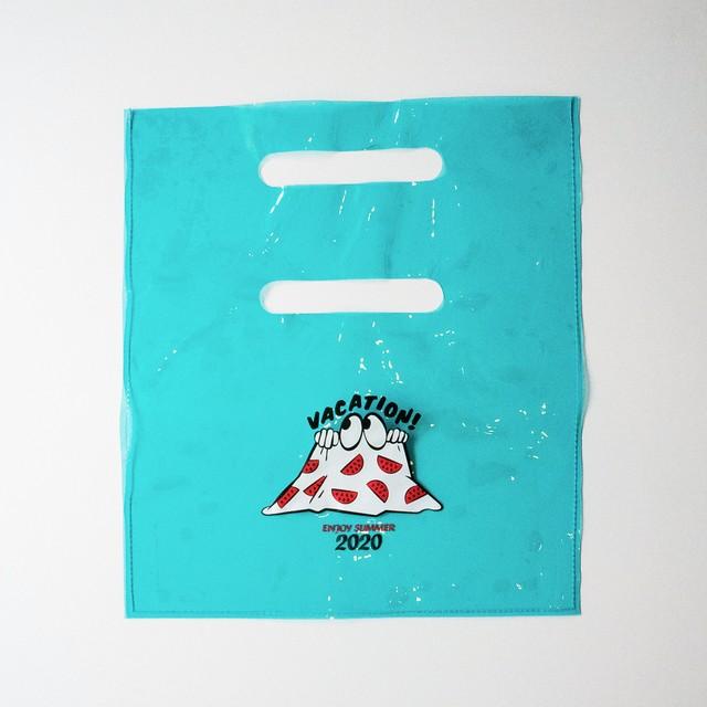 PVCビニールバッグ ブルー(B00008-02)