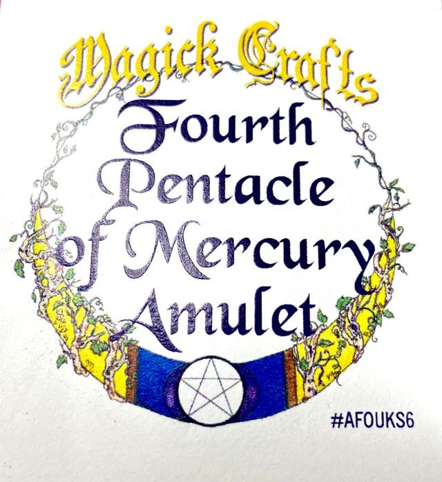 Fourth Pentacle of Mercury Amulet フォースペンタクルオブマーキュリーアミュレット 白魔術アミュレット