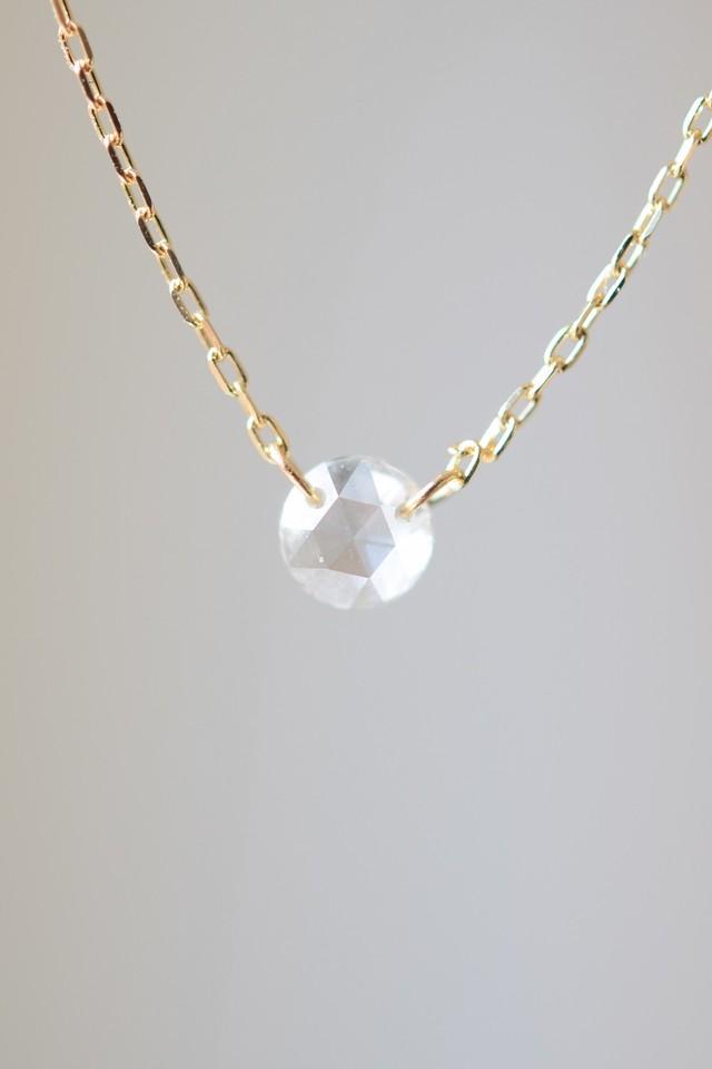 ローズカットダイヤモンドのネックレス