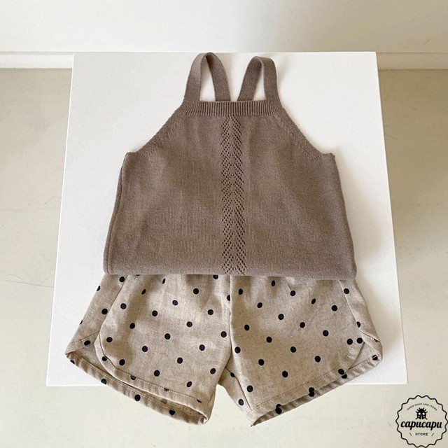 «sold out» Aosta popo knit top 3colors サマーニットノースリーブ