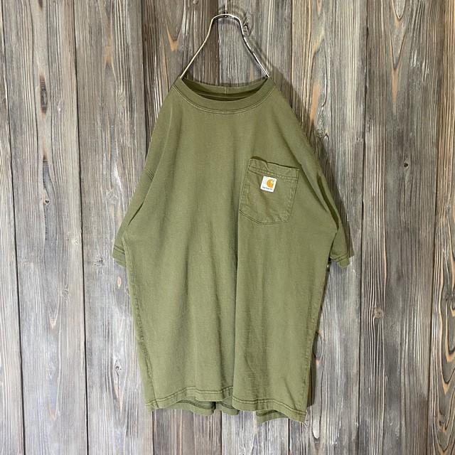 [Carhartt]khaki pocket T shirt