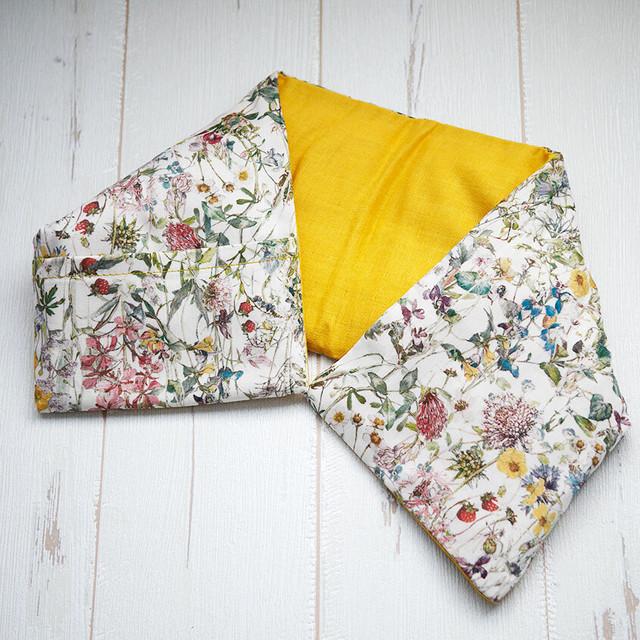 【NEW】首・肩用あずきホットパッド020<wild flowers×マリーゴールド>