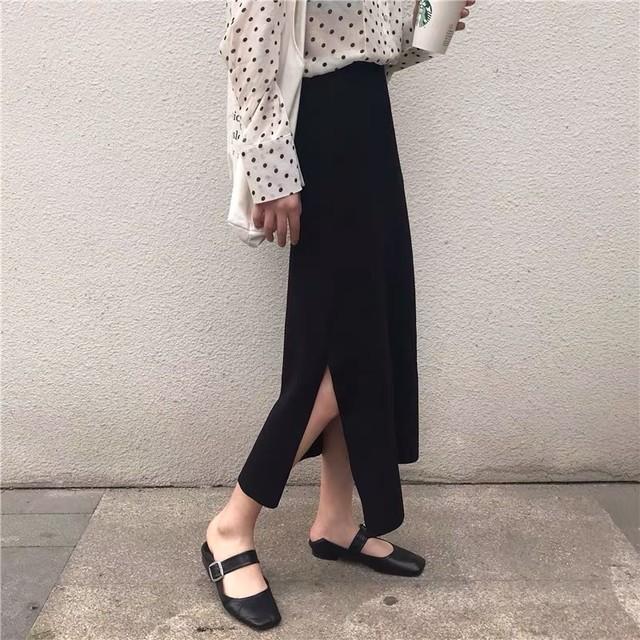 サイドスリットのミモレ丈スカート◆お取寄せ商品◆SSBT021