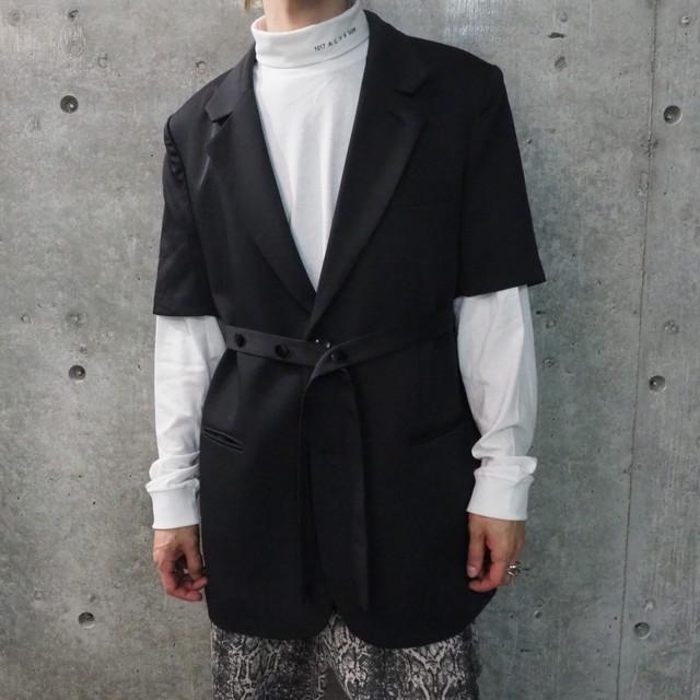 【UNISEX - 1 size】SHORTSLEEVE JACKET / Black