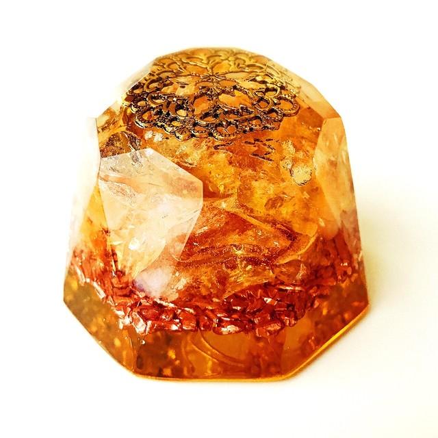 【シトリン】ダイヤモンド型オルゴナイト・99