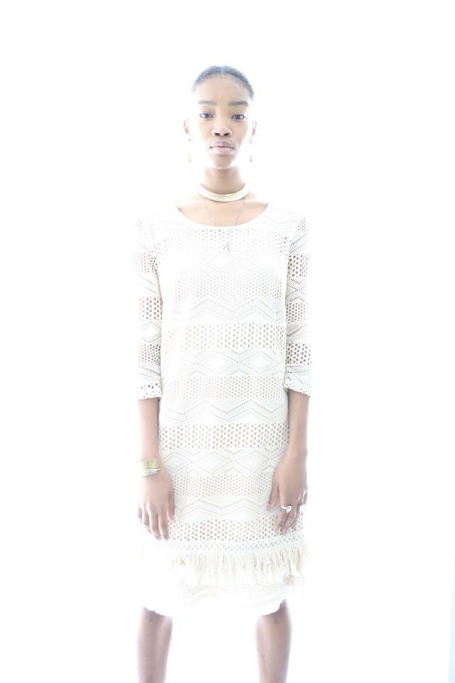 Vintage crochet fringe dress