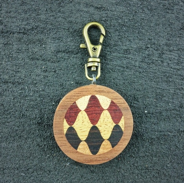 wooden inlaid charm IH-015-WT
