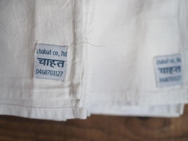 white khadi handkerchief