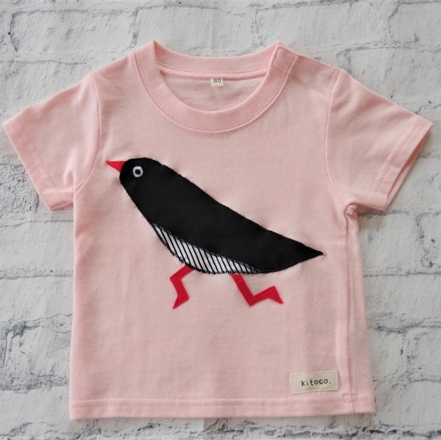 【kitoco.】アップリケのベビーTシャツ(ヤンバルクイナ・80サイズ)